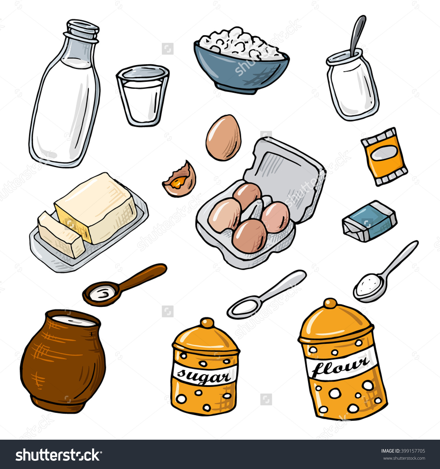 Flour clipart ingredient Eggs Flour Clipart Clipart Eggs