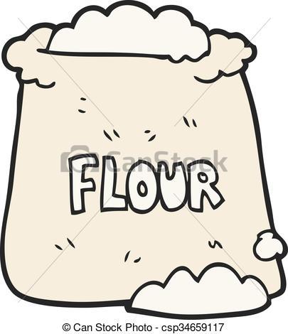 Flour clipart sack flour  Vector flour bag of