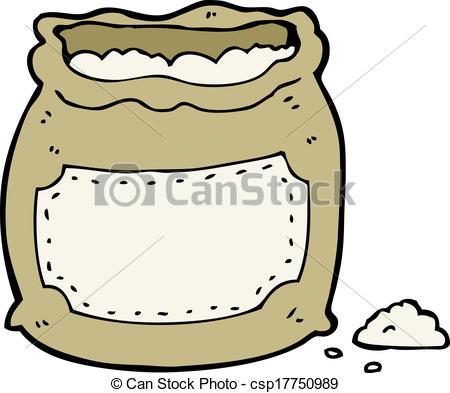 Flour clipart sack flour Vector Search bag of flour