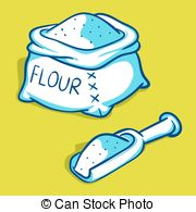Flour clipart vector Vector illustration Bag of