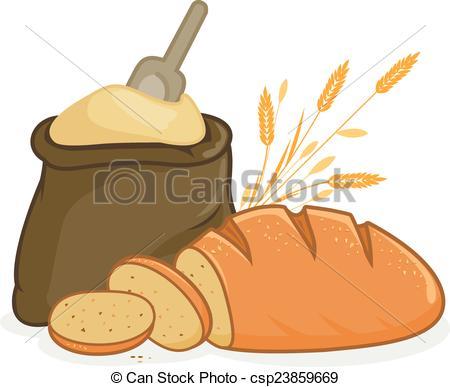 Flour clipart vector  Clip bread sack Vector