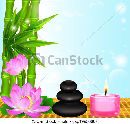 Candle clipart spa Spa Vector candle Art background
