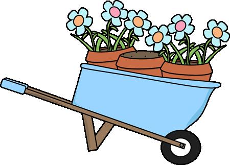 Flowerpots clipart Flower and Art Wheelbarrow and