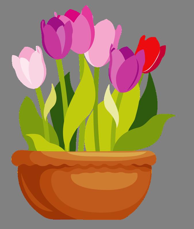 Flowerpots clipart 4 4 Flowers Picture 2
