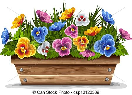 Pansy clipart potted flower #4