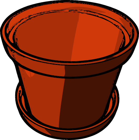 Flowerpots clipart Image this Clker Download vector