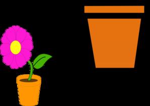 Flowerpots clipart Clip Pots Clker Flower vector