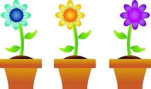 Flowerpots clipart Pot Flower Spring cliparts Pots