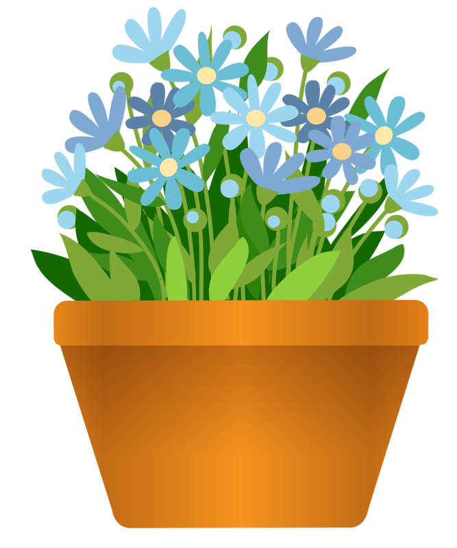Red Flower clipart planter #4