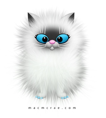 Persian Cat clipart cute cat White Download Clip – Fluffy
