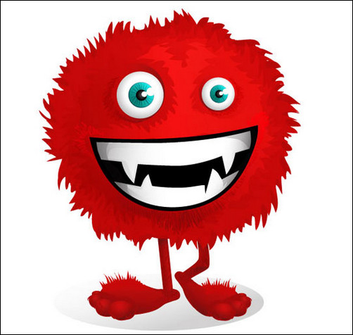 Alien clipart red monster Monster clipart Funny WikiClipArt Funny