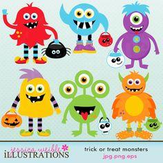 Monster clipart halloween monster #9