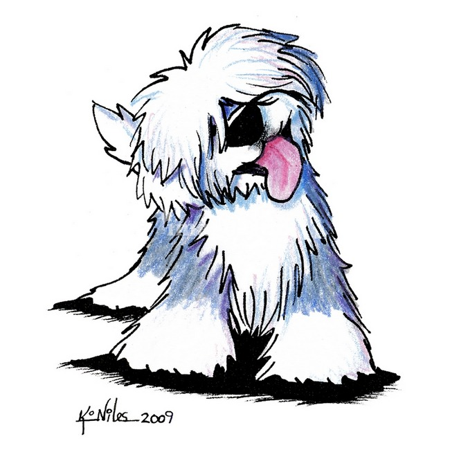 Old English Sheepdog clipart cartoon Collection Old old sheep dog