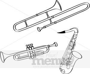 Brass clipart instrumental music Party Clipart Brass Brass Instruments