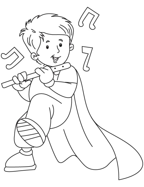Flute clipart coloring Pages coloring coloring page