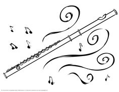 Flute clipart coloring Has band flute for class