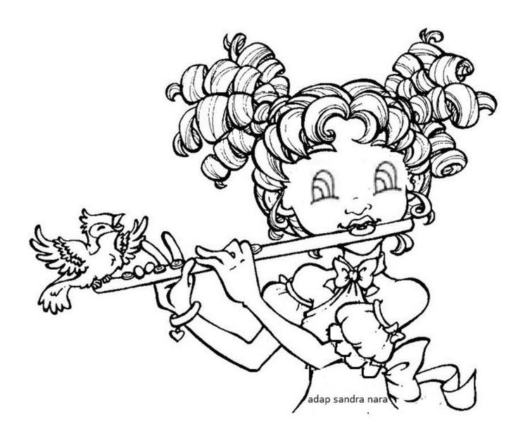 Flute clipart coloring Music Pinterest Notes about images