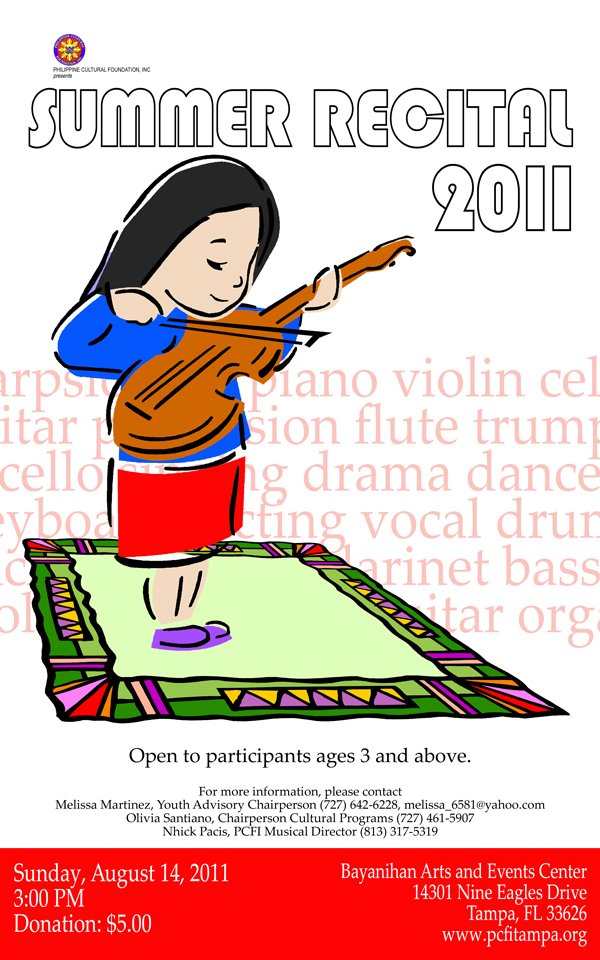 Fluted  clipart cultural program Archives 8 Recital Philippine Foundation