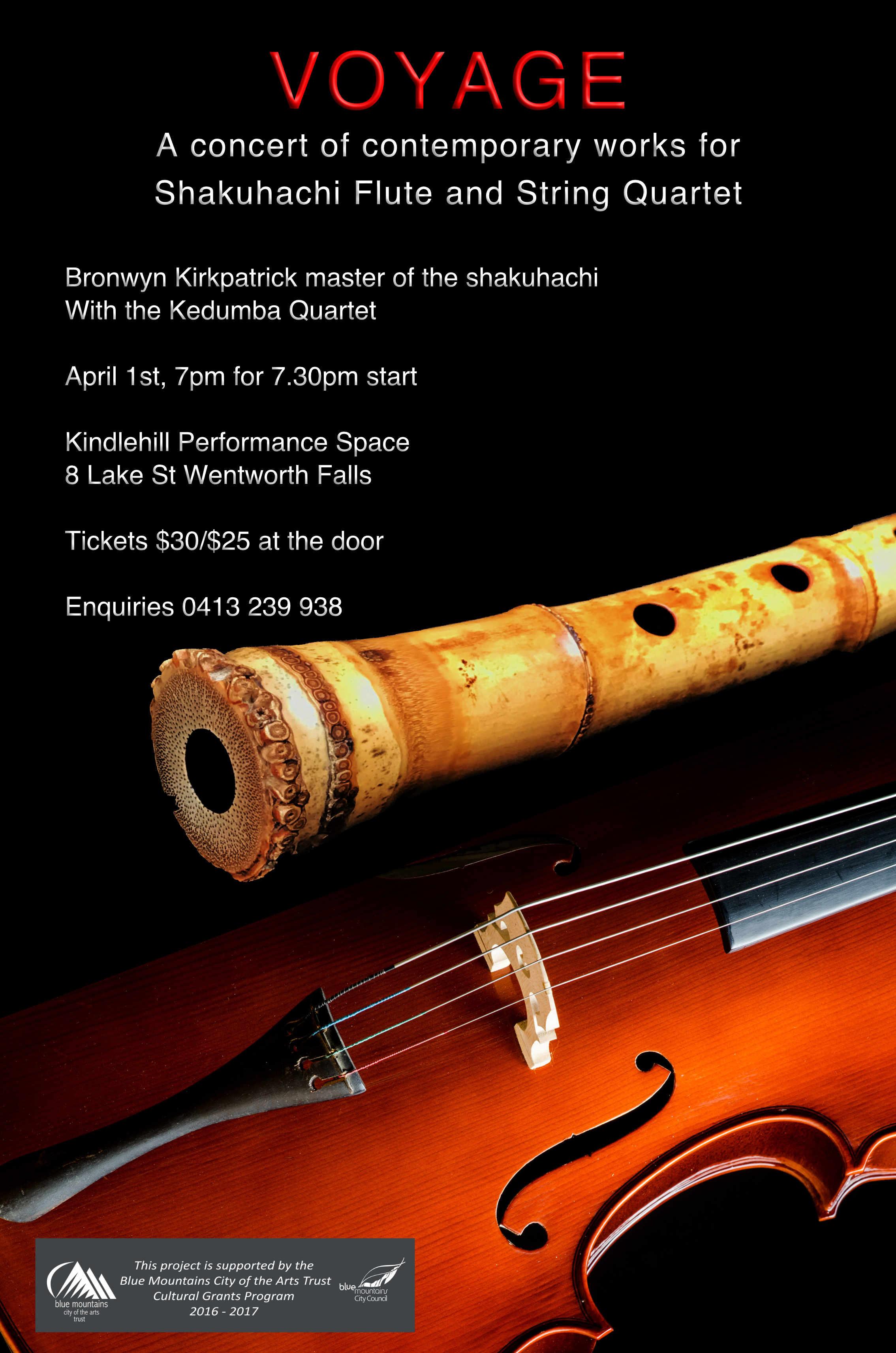 Flute clipart cultural program Kirkpatrick Bronwyn string_quartet_shak_flyer Shakuhachi