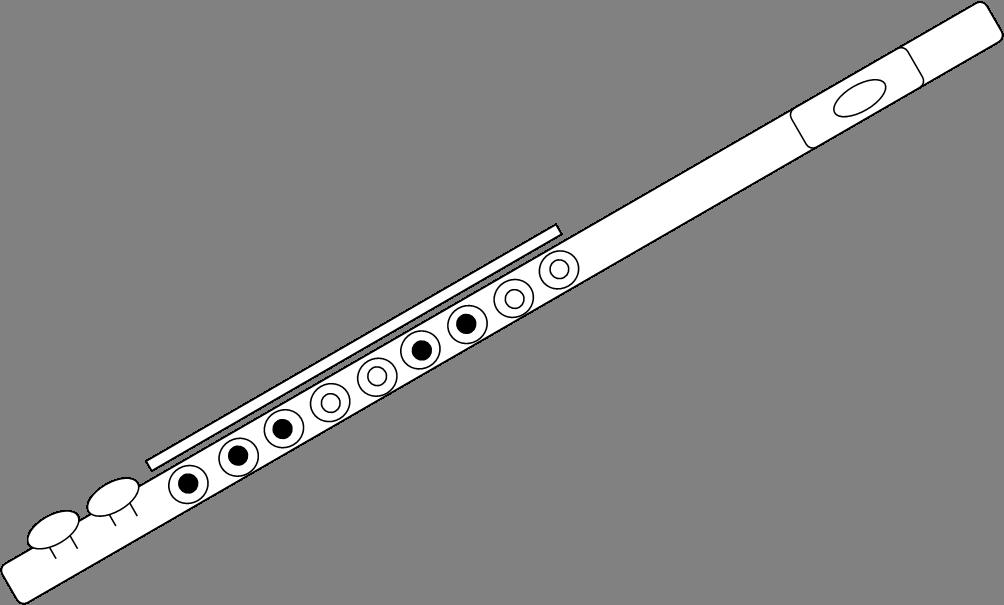 Drawn fluted  sketch Images art Flute Clker Flute