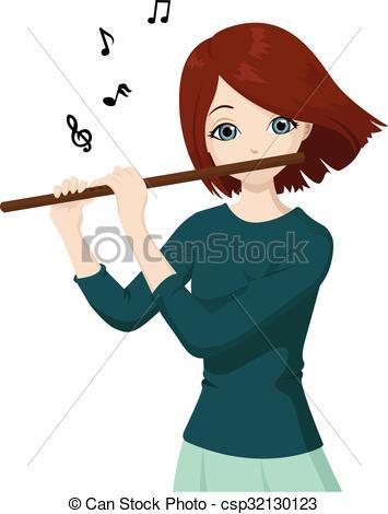 Fluted  clipart vector Flute Clipart  Girl Girl