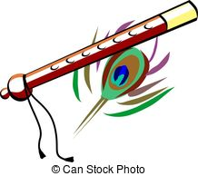 Flute clipart krishna flute Colour with  and Flute