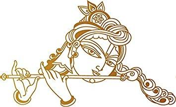 Flute clipart krishna flute Krishna  Flute WallDesign Reflective