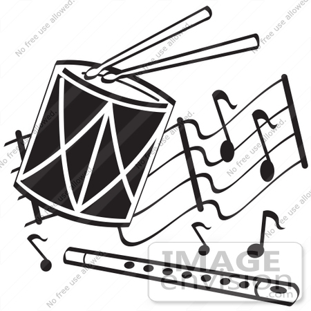 Flute clipart music class Music white clipart black and