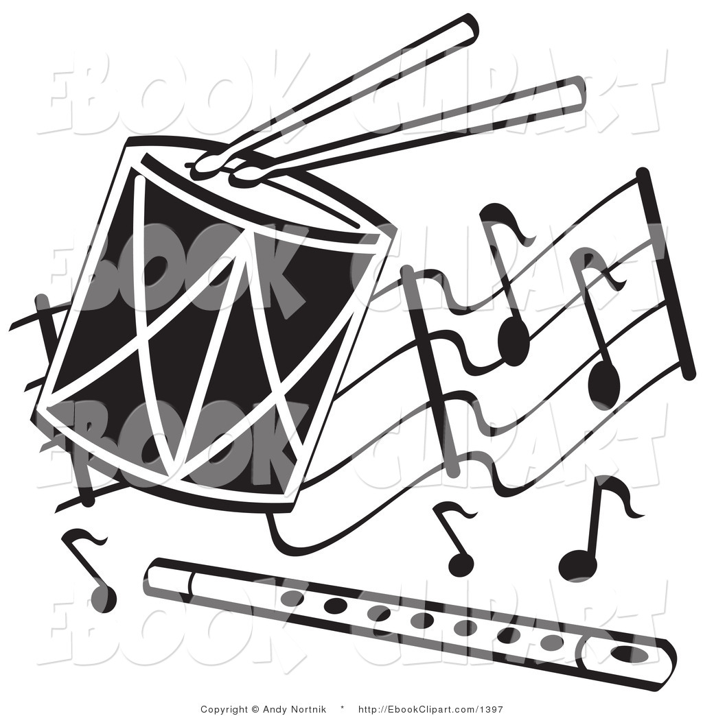 Fluted  clipart music classroom Art Flute White Drum and