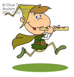 Flute clipart pied piper Of Pied Running Flute Piper