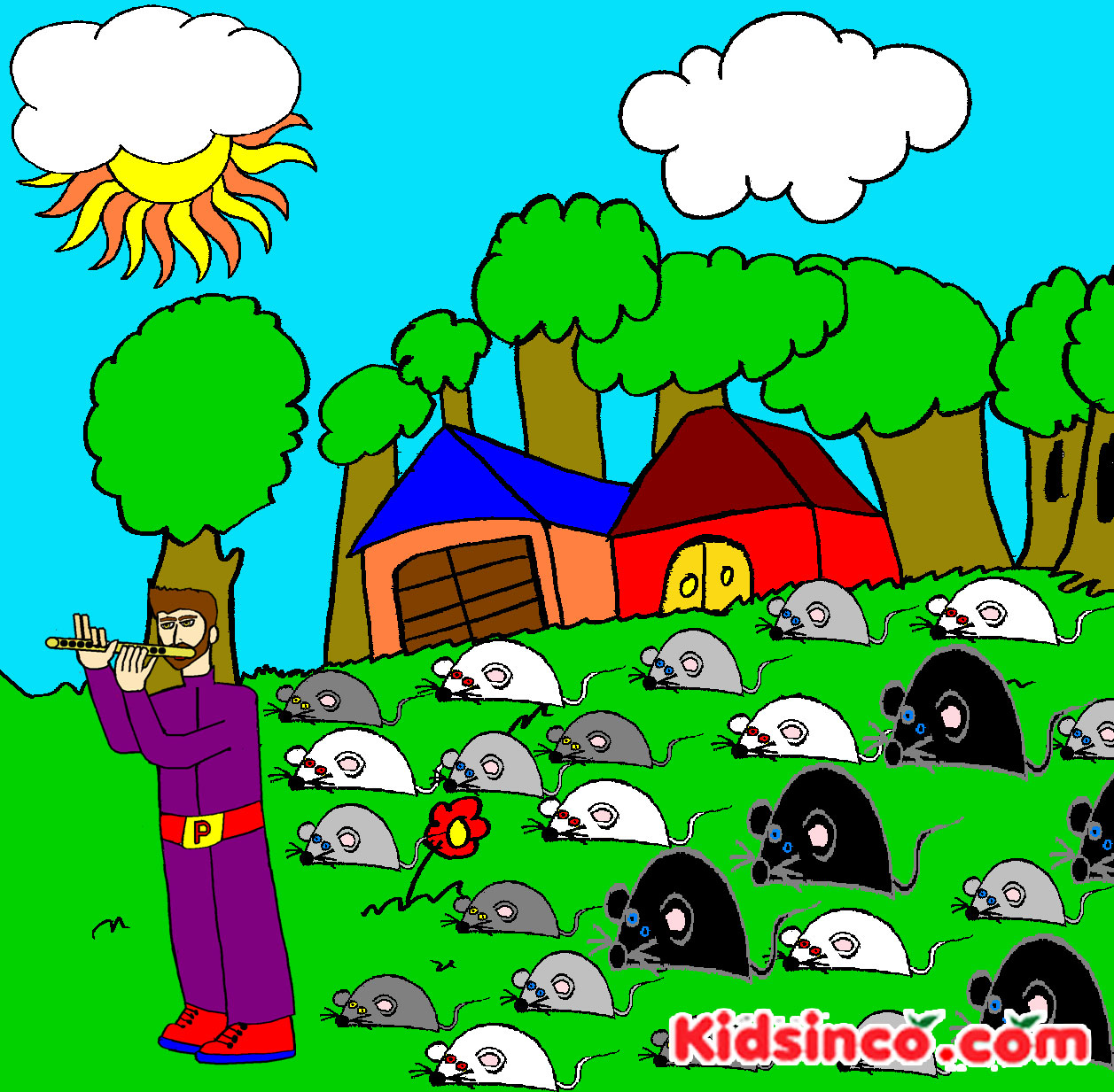 Flute clipart pied piper Of K S  Pied