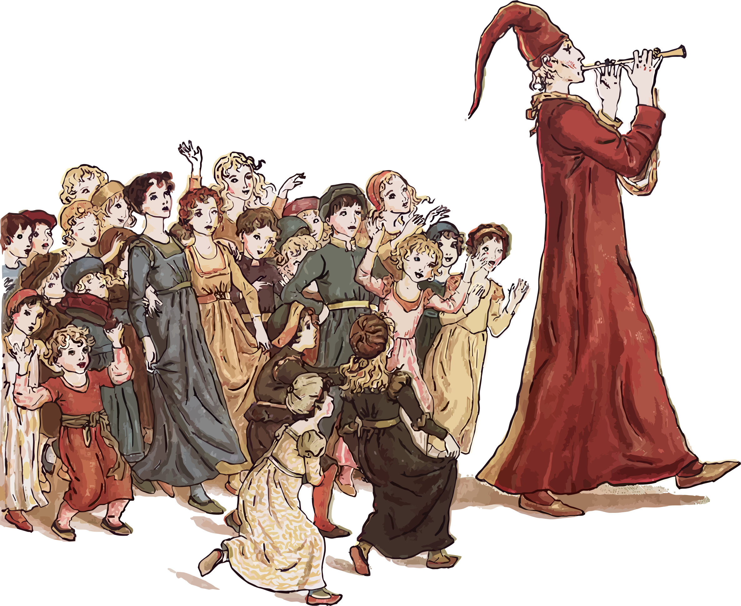 Fluted  clipart pied piper Piper Piper Pied Of Pied