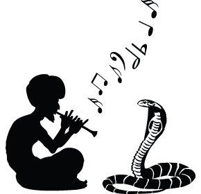 Flute clipart snake Wall Art Art Sticker playing