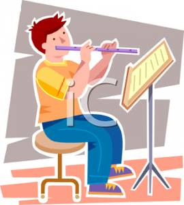 Fluted  clipart flutist A Free Royalty Playing Royalty