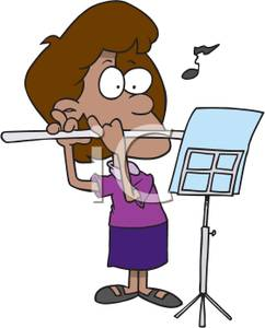Fluted  clipart flutist Woman Playing Clipart the Flute