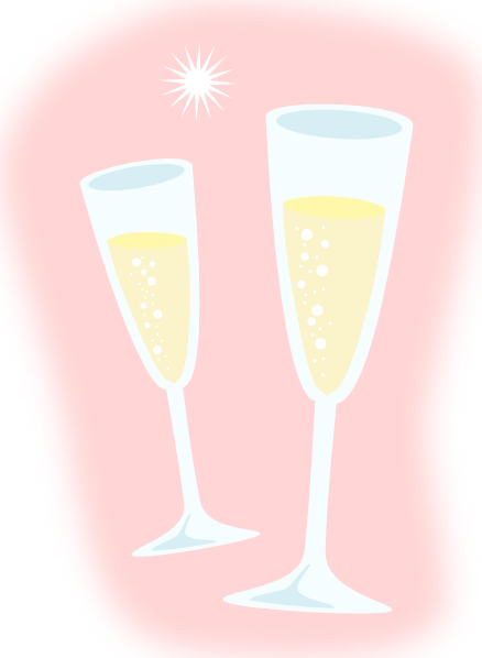 Fluted  clipart pink champagne Clip  art Champagne Glasses