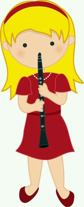 Fluted  clipart practice Tocando niña on Minus &