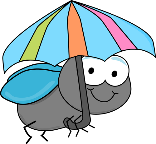 Fly clipart Clip Umbrella and Fly Fly