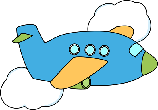 Flying clipart Airplane Clip Clouds flying blue