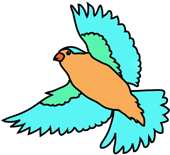 Wings clipart colorful bird Clipart clipart clipart Flying Flying