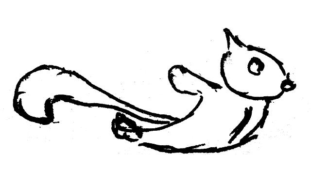 Drawn squirrel flying squirrel Squirrel Panda Drawing Free Clipart