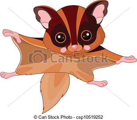 Flying Squirrel clipart A Flying of Illustration Flying
