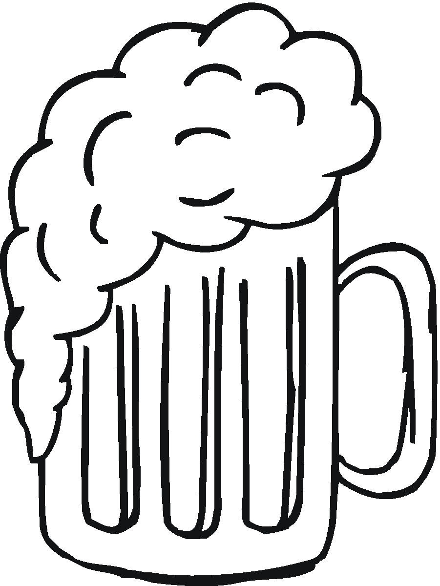 Beer clipart black and white Panda Images Foam Clipart Free