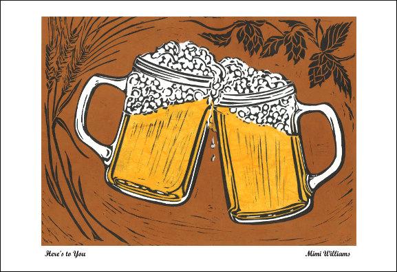 Drawn beer beer cheer Home or poster Cheers DIY