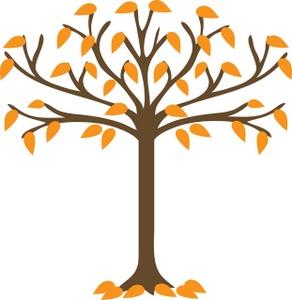 Tree clipart autumn leaves #8