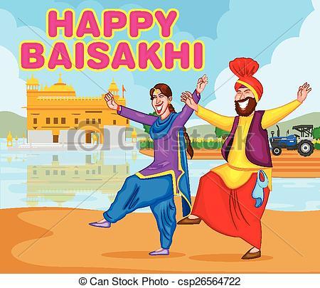 Danse clipart lohri Happy Vector doing Baisakh for