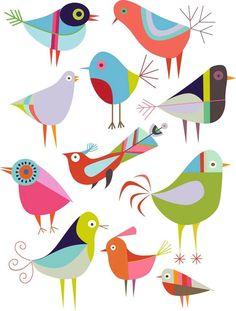 Folk clipart bird A birds and commercial Fold