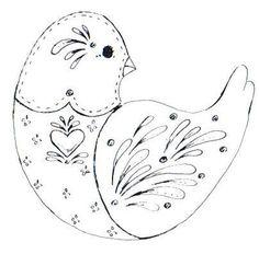 Folk clipart bird Crafts: Folk Art art Bird