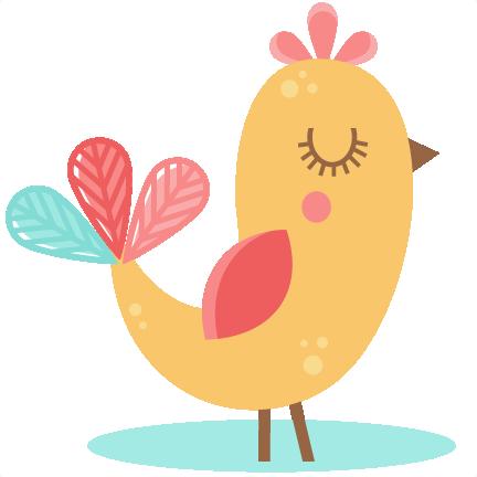 Folk clipart bird Bird  cute cut file