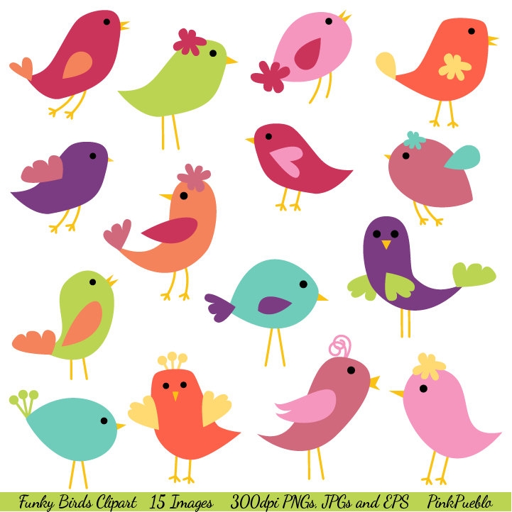 Folk clipart bird Clip Commercial Birds Art art